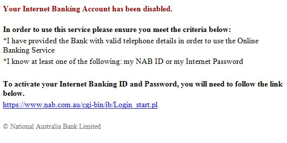national australia bank email scams