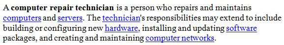 what is a computer technician