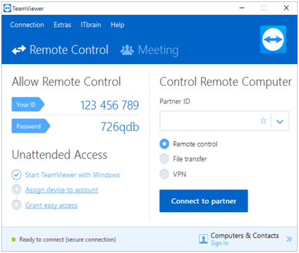easy way to use teamviewer