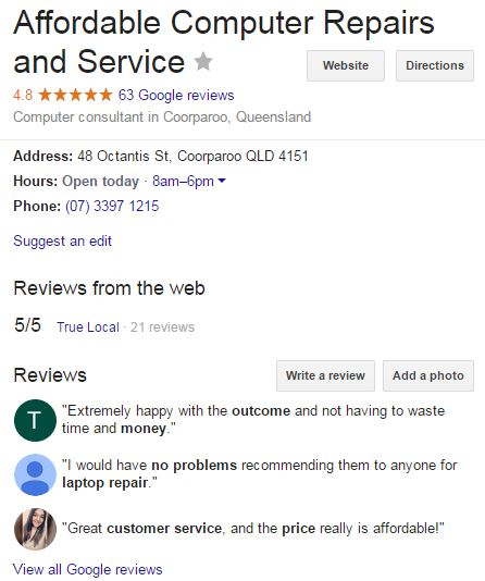 computer repair reviews google plus july 2017